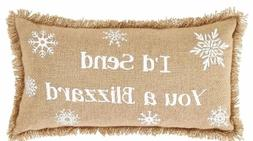 If Snowflakes Were Kisses Rustic Cotton Burlap Pillow Set of