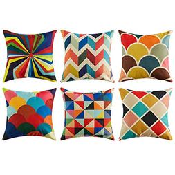 Top Finel Decorative Outdoor Throw Pillow Covers Set - Squar