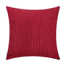CaliTime Soft Corduroy Stripes Cushion Covers Throw Pillows