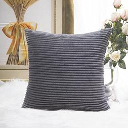 Throw Pillow For Women Soft Square Couch Cushion Cover Grey