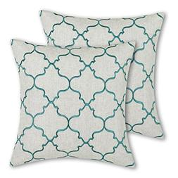Pack of 2 CaliTime Soft Throw Pillow Covers Cases for Couch