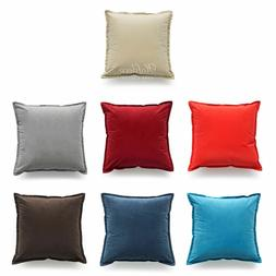 Hofdeco Solid Classic Throw Pillow Cover Luxury Comfy Sofa C
