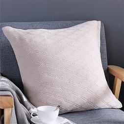 iSunShine Solid Decorated Toss Throw Pillow Textured Cotton
