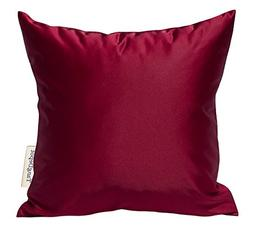 solid silky throw pillow covers