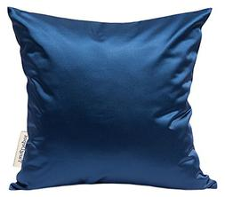 TangDepot Solid Silky Throw Pillow Covers, Shining and Luxur