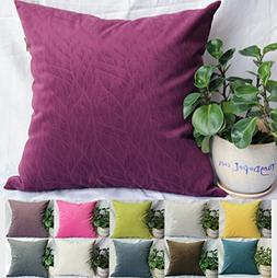 TangDepot Solid Velvet Decorative Pillow Covers/Euro Pillow