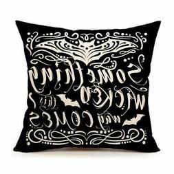 4TH Emotion Something Wicked Chalkboard Halloween Throw Pill