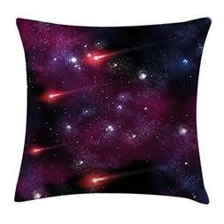 Ambesonne Space Throw Pillow Cushion Cover, Four Comet on Th