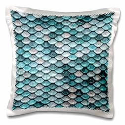 3dRose Sparkling Teal Luxury Elegant Mermaid Scales Glitter