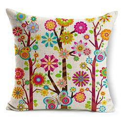 GBSELL Spring Cushion Bed Car Printed Cotton Linen Sofa Vint