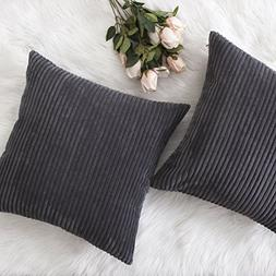 HOME BRILLIANT Decor Pillow Covers Soft Decorative Striped C