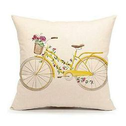 4TH Emotion Spring Floral Pillow Cover 18 x 18 Inch Summer H