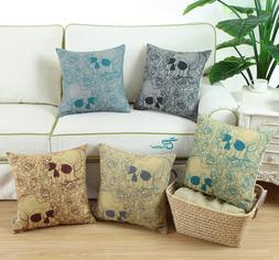 CaliTime Square Cushion Covers Throw Pillow Cases Hallowmas