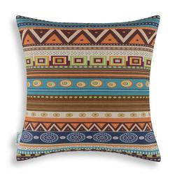CaliTime Square Cushion Covers Throw Pillows Cases Shell Hom