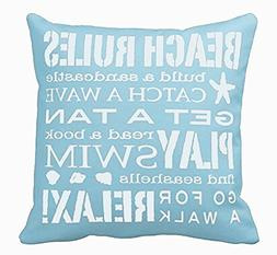 Acelive 20 x 20 Inches Square Decorative Throw Pillow Case C