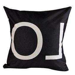 GBSELL Letter Style Square Pillow Cover Cushion Case Toss Pi