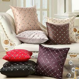 Square Throw Pillow Case Sofa Waist Cushion Cover Home Bed S