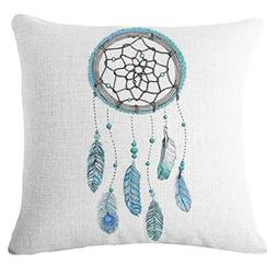 Square Throw Pillow Cover, Kimloog Dream Catcher Cotton Line