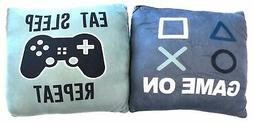 Squishy Gamer Throw Pillow 14x14 inch Set of 2 - Game On and