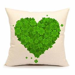 4TH Emotion St. Patricks Day Green Home Decor Throw Pillow 1