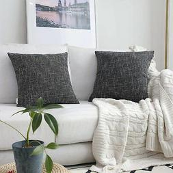 Kevin Textile Star Lined Linen Soft Solid Throw Cushion Pill