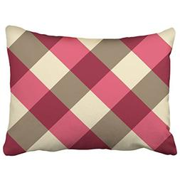 Capsceoll strawberry large gingham plaid burgundy cream Deco