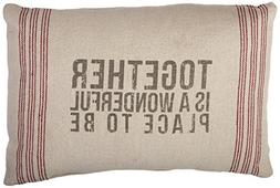 Primitives by Kathy 9-Stripe Together Pillow, 14.5-Inch by 1