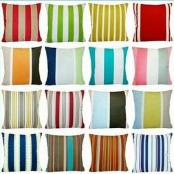 Striped Premium Throw PILLOW COVER Sofa Bed Couch Decorative