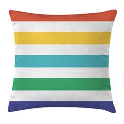 Ambesonne Striped Throw Pillow Cushion Cover, Rainbow Colore