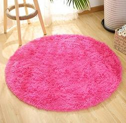 Super Soft Faux Fur Sheepskin Rug Shaggy Rug Round Area Rugs