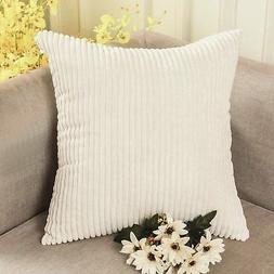 HOME BRILLIANT Super Soft Plush Corduroy Solid Textured Larg