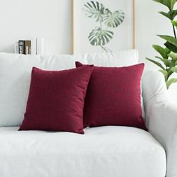 Kevin Textile Supersoft Faux Linen Square Throw Cushion Cove