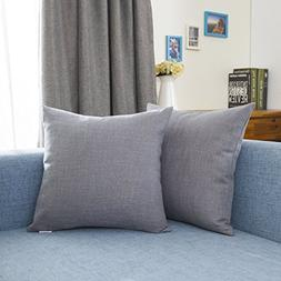 Kevin Textile Supersoft Fuax Linen Square Throw Pillows Sham