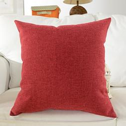 HOME BRILLIANT Supersoft Linen Euro Sham Throw Pillow Cushio
