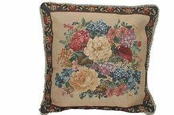Set of 2 Tapestry Floral Country Rustic Morning Cushion Pill
