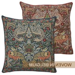 William Morris Peacock & Dragon Tapestry Throw Pillow Cover