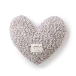DEMDACO Taupe Grey Heart Shaped 10 x 11 inch Plush Polyester