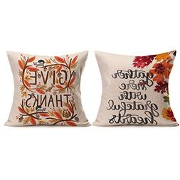 Wonder4 Thanksgiving Decorative Pillow Cushion Cover Give Th