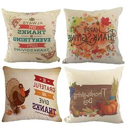 Thanksgiving Decorative Throw Pillow Covers - Wonder4 Cotton
