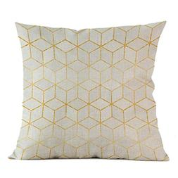 Iuhan Throw Pillow Case Cushion Cover, Fashion Geometric Pil