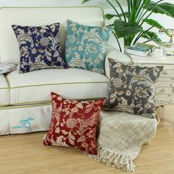 CaliTime Throw Pillow Case Cushion Cover Shell Floral Home S