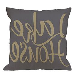 HGOD DESIGNS Throw Pillow Case Lake House Cotton Linen Squar