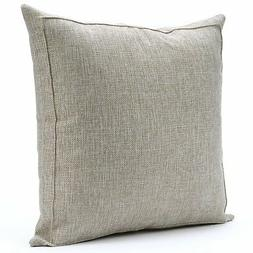 Jepeak Burlap Linen Throw Pillow Case Cushion Cover Farmhous