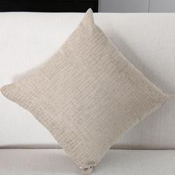 Throw Pillow Cotton Linen Square Home Decorative Sofa Waist