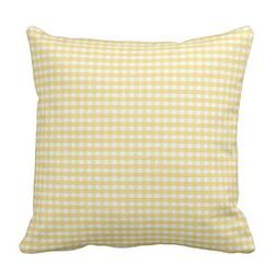 Emvency Throw Pillow Cover Accent Yellow Gingham Spring Whit