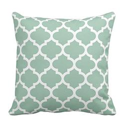Emvency Throw Pillow Cover Colorful Lattice Quatrefoil Graye