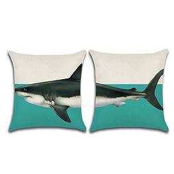 Aremazing Throw Pillow Cover Creative Set of 2 Elephant Whal