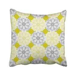 Emvency Throw Pillow Cover Polyester 18x18 Inch Yellow Musta