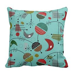 Emvency Throw Pillow Cover Vintage Inspired Mid Century Mode