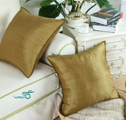 "CaliTime Throw Pillow Covers Cases 18""x 18"", Gold, NWOT"